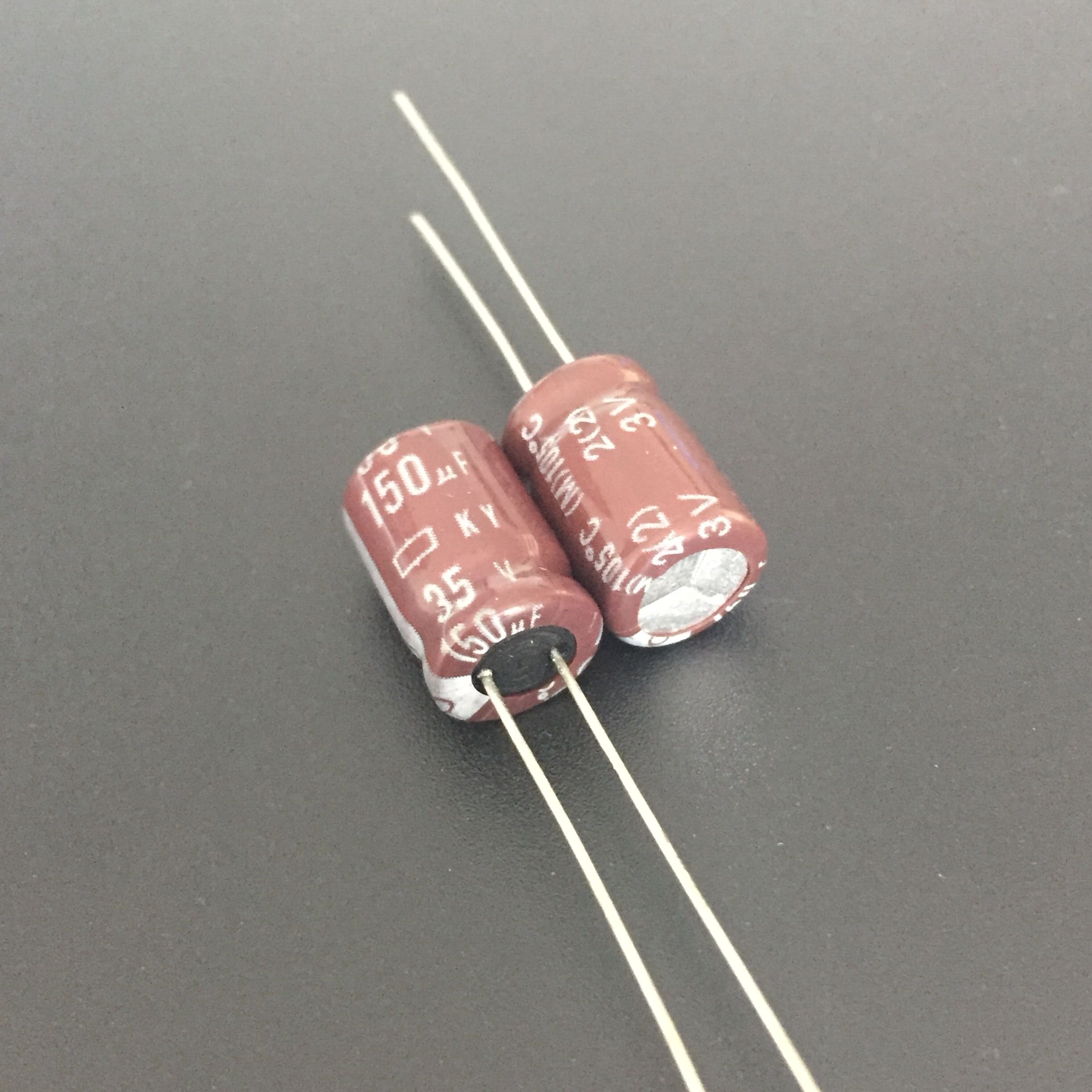 10pcs 150uF 35V NIPPON KY Series 8x11.5mm Low ESR 35V150uF Aluminum Electrolytic Capacitor