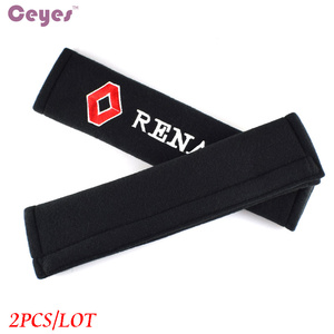 Image 4 - Car Styling Seat Belt Cover Case For Renault Megane 2 Duster Logan Captur Clio Laguna 3 Fluence Cotton Accessories Car Styling