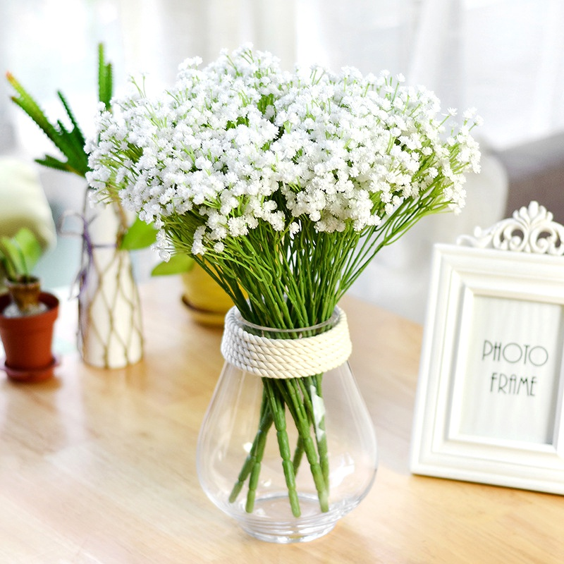 Home & Garden The Best Gypsophila Artificial Flowers Simulation Flower Bouquets Of Bubble Wedding Dress Handicrafts 7 Forks Sky Star Artificial & Dried Flowers
