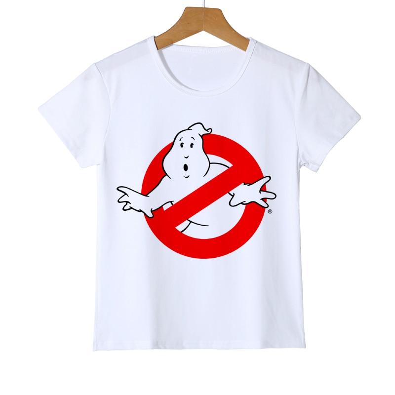 Fashion Summer Ghostbuster Childrens/Kids T Shirt Boys/Girls Movie Top Tee Baby T-shirt Tops Cartoon 3D Camisa Z26-7