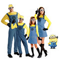 Children's Minions Costume Halloween Anime Mini Despicable Me Cosplay Costumes Suits Boys/Girls Kids Party Parent-child Clothes