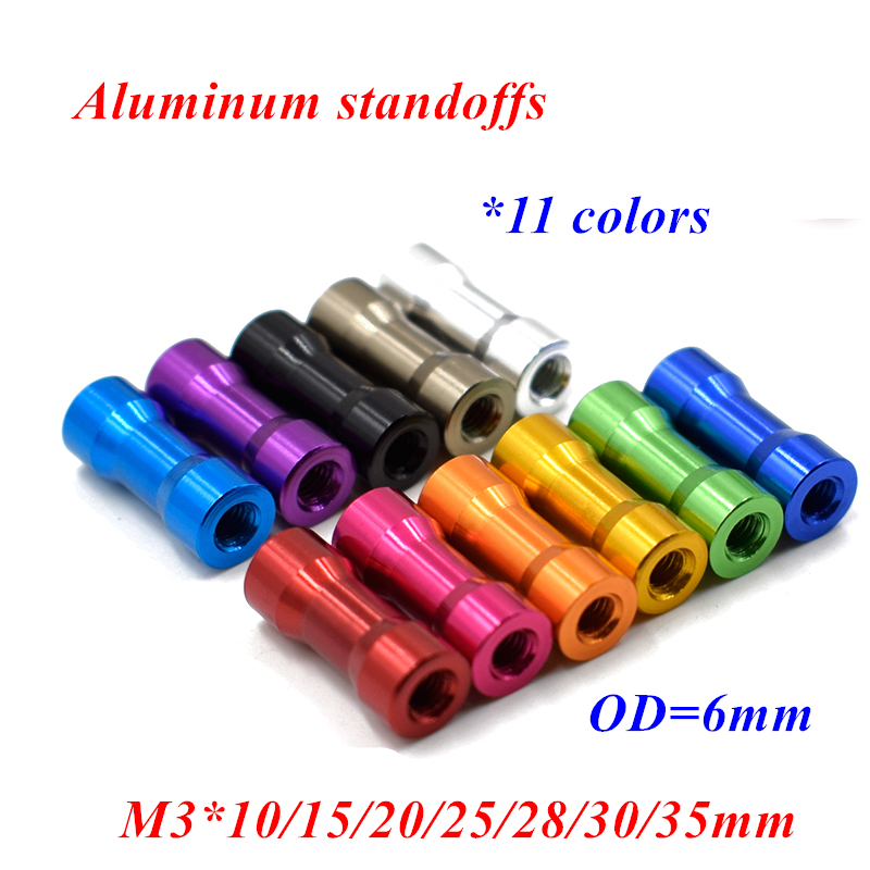 5//16 Screw Size 3//4 OD 1-1//4 Length 0.315 ID Aluminum Plain Finish Made in US Round Spacer