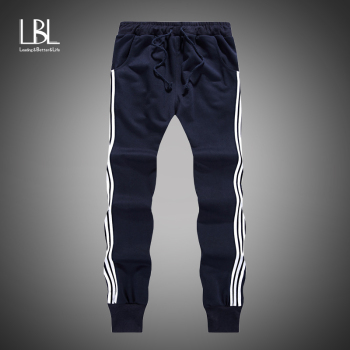 New Fashion Men Gyms Cotton Men Pants High Quality Cotton 2019 Mens Joggers Casual Sportpants Homme Comfortable Loose Sweatpants
