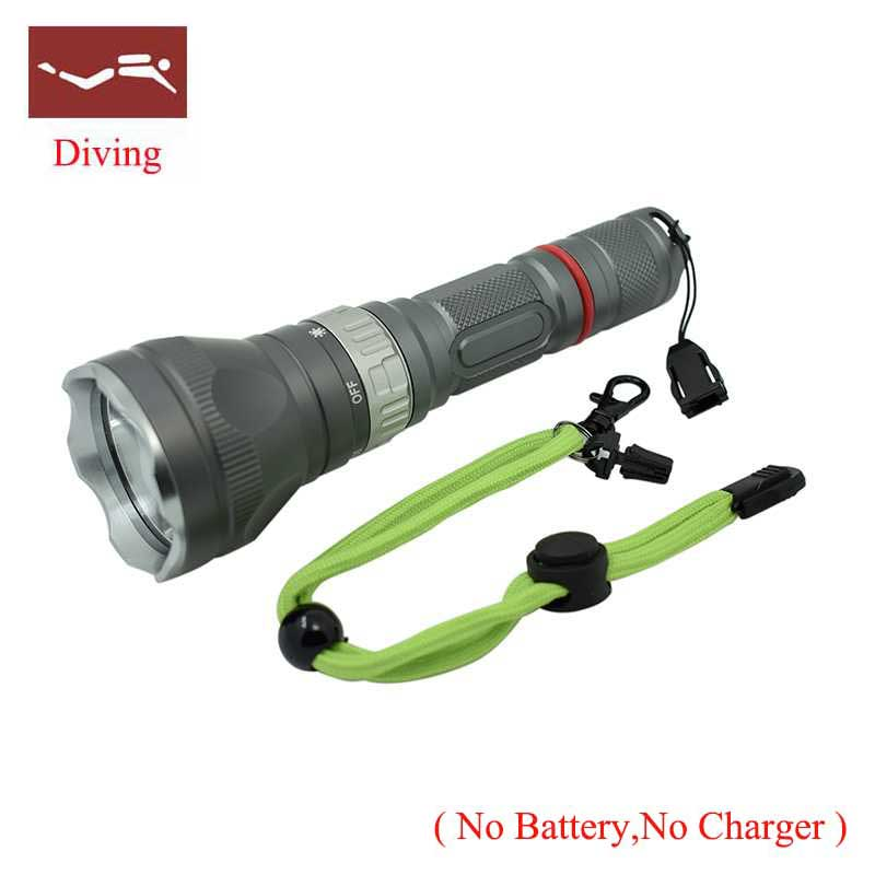 New LED Diving flashlight Underwater torch led light Q5 Waterproof 18650 Flash Lamp Torch by 18650 battery underwater light supfire d6 160m underwater professional explosion proof strong diving led light flashlight grade exibii bt4 by 18650 battery