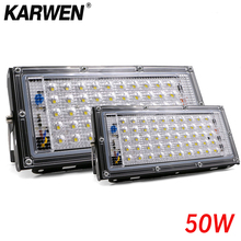 Waterproof Ip65 LED Flood Light 50W AC 220V 240V Spotlight Outdoor Garden Lighting Led Reflector Cast light Floodlights cheap KARWEN Flood Lights Square Contemporary LED Bulbs Paint Spraying None LED Floodlight ROHS Aluminum Landscape Lighting Reflector led