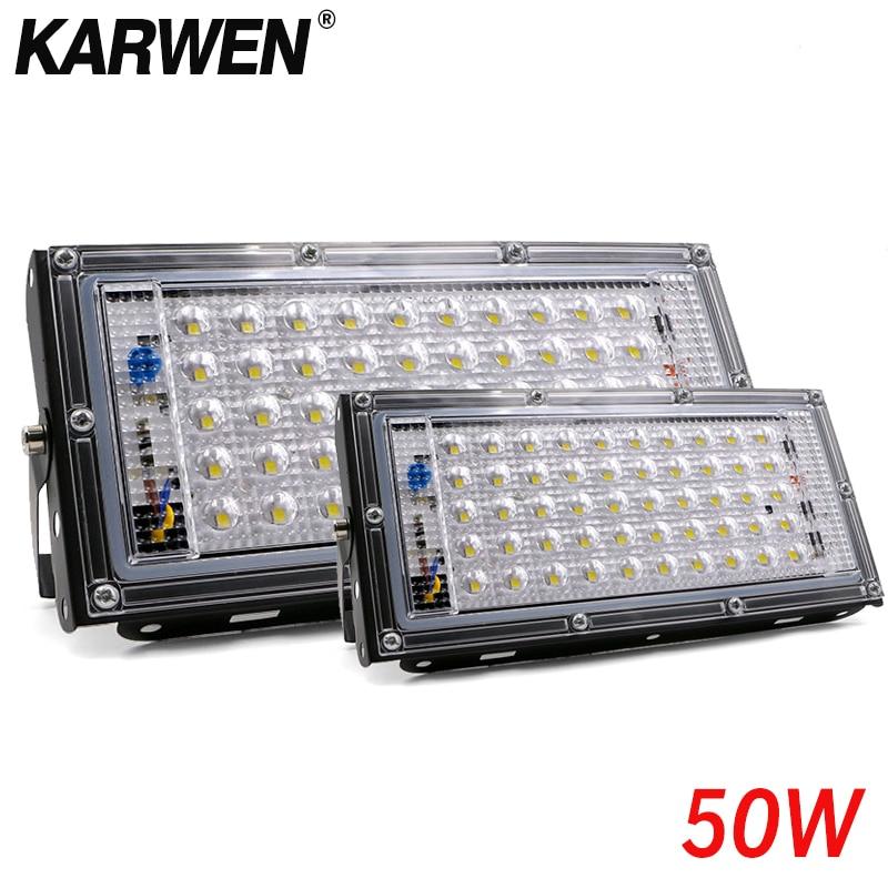 Waterproof Ip65 LED Flood Light 50W AC 220V 240V Spotlight Outdoor Garden Lighting Led Reflector Cast Light Floodlights