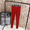 Stretched Pants Women Casual Plus Size 3XL 4XL Slim High Waist Pencil Pants Black Red Trousers KK2172