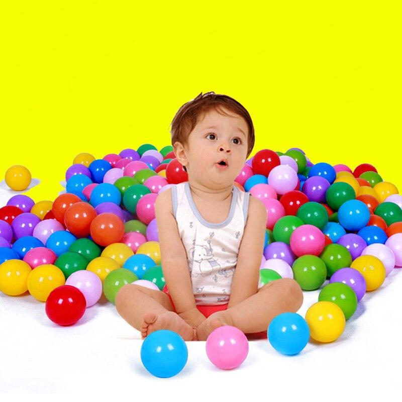 50//100//200Pcs Ocean Ball Plastic Colorful Balls Kids Secure Baby Swim Pool