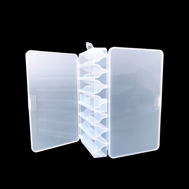 2019 New Transparent Plastic Fishing Lure Tackle Box Hook Fishing Accessories Storage Case Double Sided High Strength Box