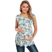 Telotuny Одежда для беременных и кормящих без рукавов Футболка для кормления грудью футболка Блузка Dec29