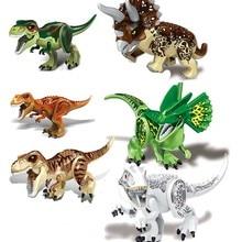 Jurassic World Brutal Raptor Building Blocks Mini Jurrassic 2 Dinosaur Figures Bricks Toys For Children