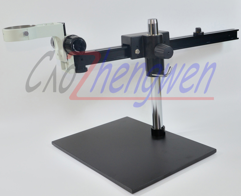 FYSCOPE Guide Stereo Zoom Microscope Stand +A3 arm focal 76mm microscope holder zj 311 76mm post stand