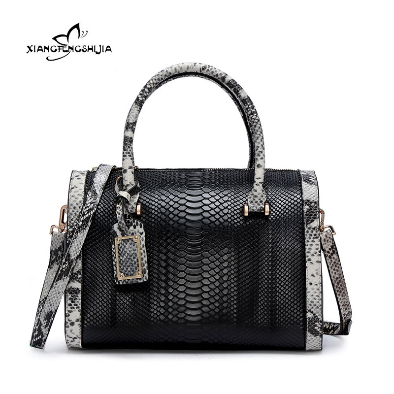 2017 Brand Fashion Women Top-Handle Bags Exquisite Serpentine Handbag Genuine Leather Female Tote Bag Ladies Shoulder Bags 14pcs set diamond coated hole saw core drill bit tile marble glass ceramic set 3 70mm durable in use metal drilling best price