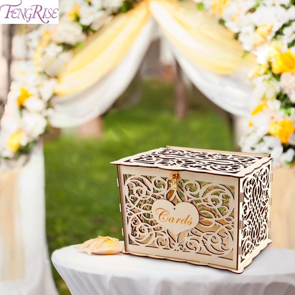 Fall Wedding Card Holder Ideas: DIY Rustic Wedding Card Box Wedding Money Box Greeting