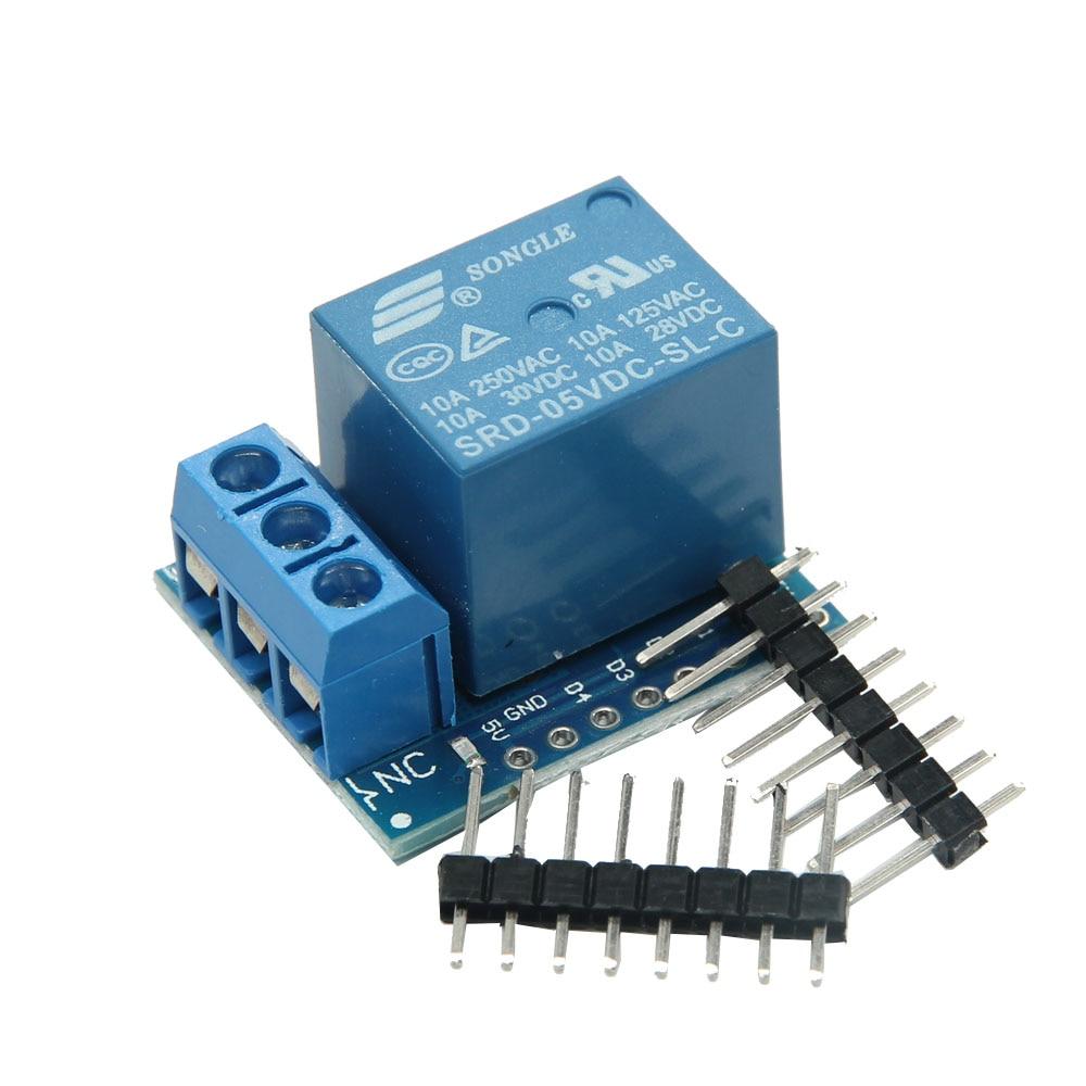ESP8266 Relay Shield V2 For WeMos D1 Mini ESP8266 Development Board For WeMos D1 Mini Relay Module For Arduino ESP8266 esp8266 esp 12e uart wifi wireless shield development board module for arduino uno r3 mega 3 3v support ttl uar stacking design