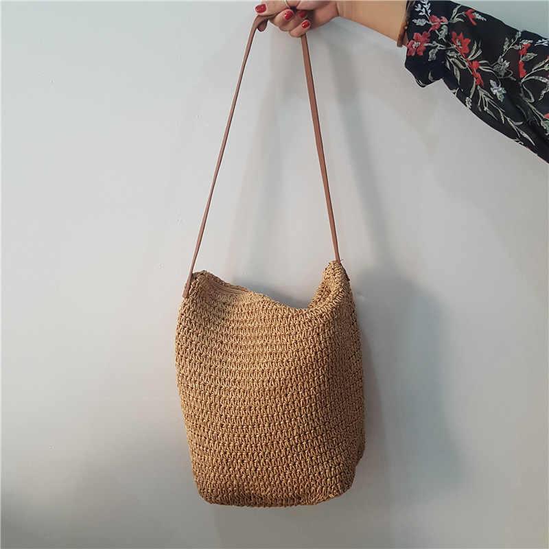 0c1dd3123554 INS новая соломенная сумка летний пляжный отдых сумки веревки, сплетенные  из ротанга сумка женские дизайнерские