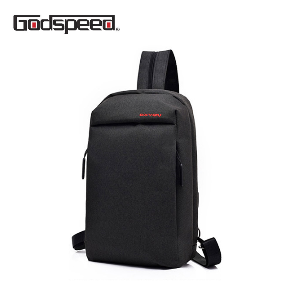 Godspeed canvas men sling bags multi-functional chest bags large capacity short trip crossbody shoulder bag back pack travel