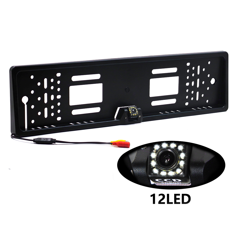 The 170 European car license plate frame car rear view camera 12 LED universal CCD infrared