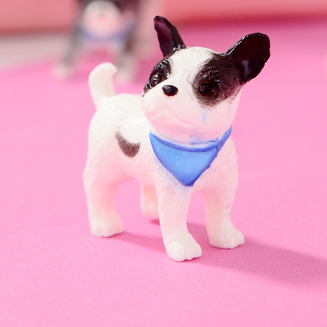 Cartoon Plastic Cute Mini Dog Dolls 6 pcs Set