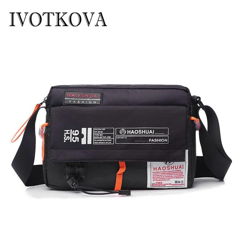 IVOTKOVA Men's Bag Messenger Bag Male Waterproof Nylon Camouflage Satchel Over the Shoulder Crossbody Bags Handbag Mini Briefcas