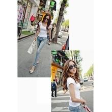 Female T Shirt Women Summer Short Shirts Solid O-Neck Casual Shirt Tops Plus Size S/M/L/XL/XXL Camiseta Feminina#B706