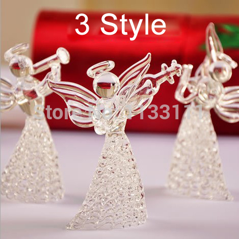 Wedding Decoration Crystal Glass Clear Drawing Love Angel Praying Creative Romantic Christmas Gifts Home Decor Vintage