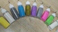 10Bottles Lot Nail Acrylic Glitter Powder Dust For Nail Art Tips Design 3D Glitter Nail Rhinestone