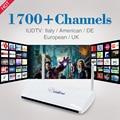 Caixa De Streaming De IPTV Leadcool Android Wifi 1G/8G Incluem 1700 Itália Portugal Francês Árabe Receptor Europa Céu Pacote de canais