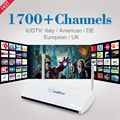 Caja IPTV Streaming de Leadcool Android Wifi 1G/8G Incluye 1700 Italia Portugal Francés Árabe Receptor Europa Cielo canales Paquete