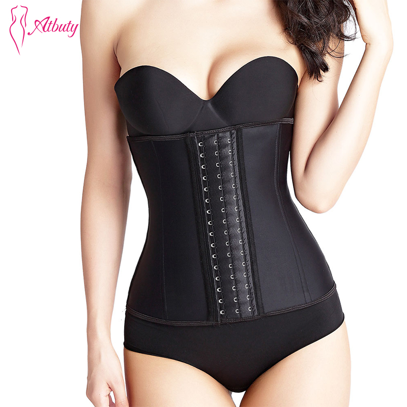 7a3e27d8f08fb Atbuty Waist Trainer Corsets Women s 9 Steel Bones Underwear Lose Weight Latex  Body Shapers. US  17.99. Atbuty Latex Corset ...