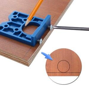 Image 3 - wood jig 35mm Hinge Jig Hole Saw For Furniture Door Cabinet Hinge Installation pocket hole jig tool for carpentry