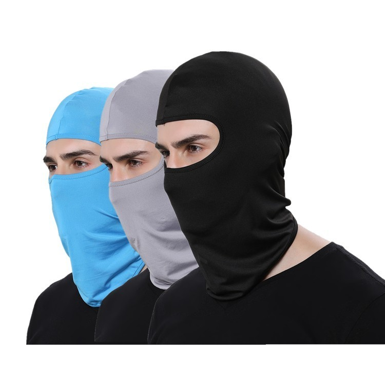 Lycra Men Headwear Sport Balaclava Ski Mask Cycling Hat Helmet Ear Cap Motorcycle Masks women beanies Neck Cover Face protection