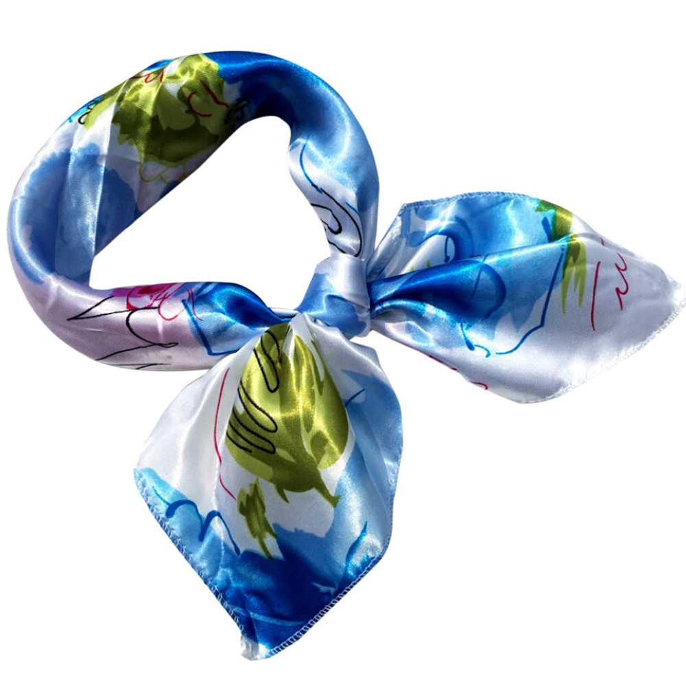Fashion Women Square Head   Scarf     Wraps     Scarves   Ladies Printed Kerchief Neck   Scarf   z2019