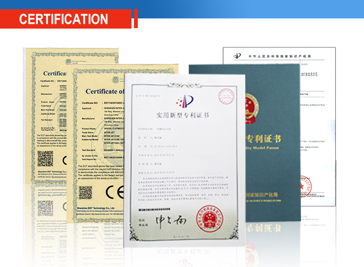 Certifications for 3D Printer and Tablet for Confectionery-Pastry-Coffee Businesses