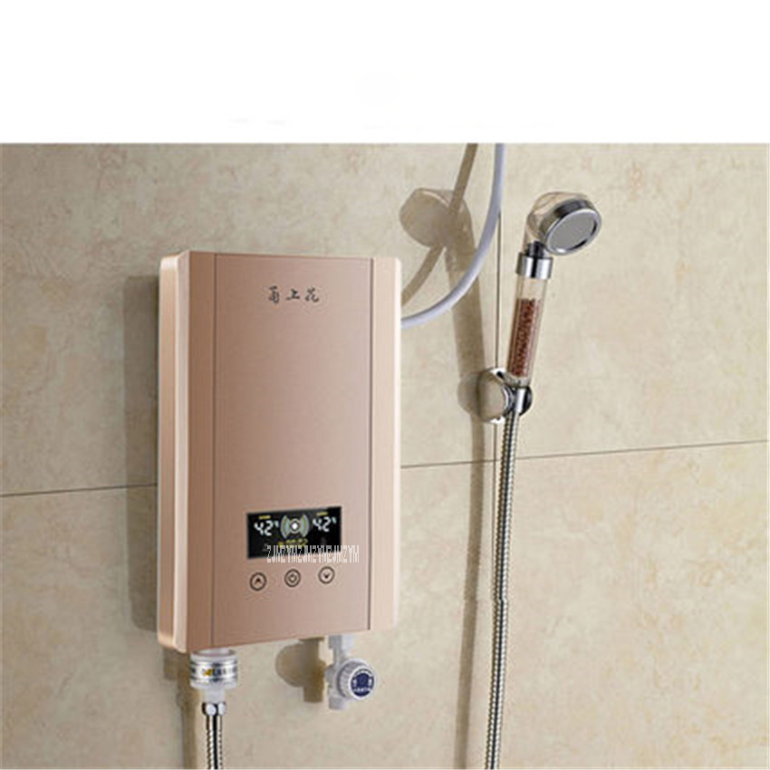 YSH-60S Instant Electric Water Heater Shower Bath Shower Thermostat Small Wall Mount 220V/50hz 30-52 degrees Celsius 0.05-0.6MPa china sanitary ware chrome wall mount thermostatic water tap water saver thermostatic shower faucet