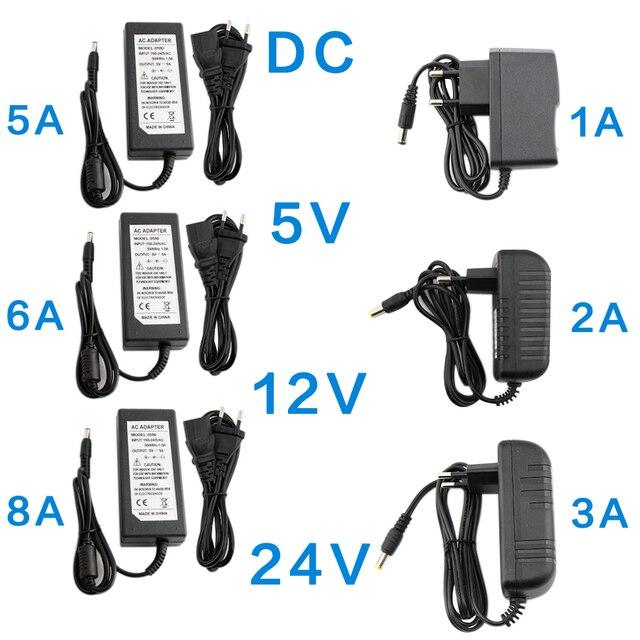 DC 5V 12V 24 V อะแดปเตอร์ 1A 2A 3A 5A 6A 8A AC DC Transformers 220V To 12V 5V 24 V อะแดปเตอร์ 5 12 24 V โวลต์
