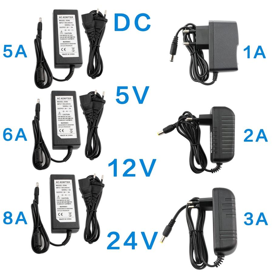 DC 5V 12V 24V Power Supply Adapter 1A 2A 3A 5A 6A 8A AC DC Transformers 220V To 12V 5V 24V Power Supply Adapter 5 12 24 V Volt