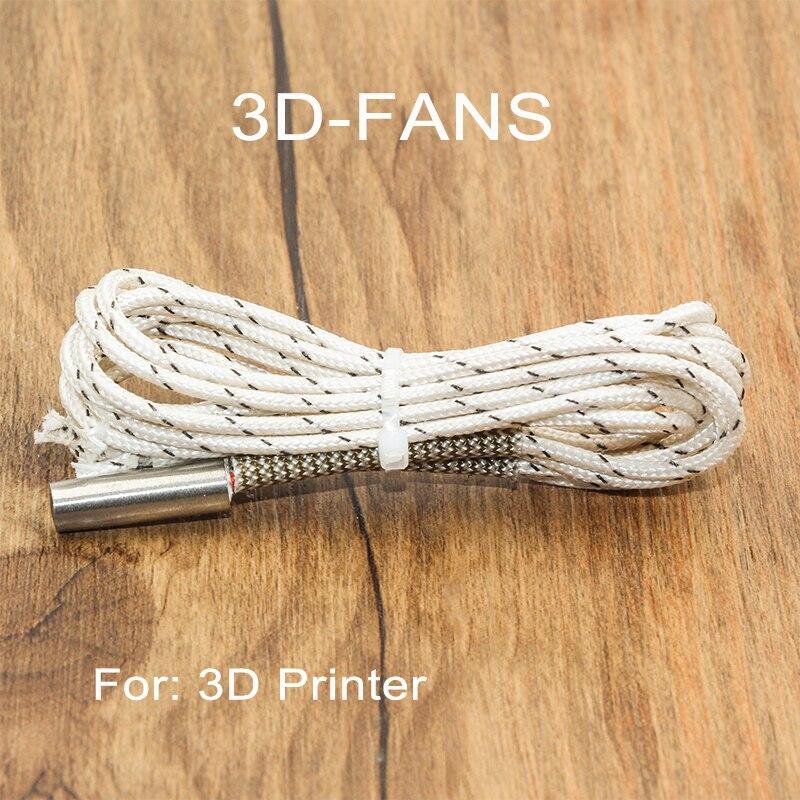 Heating Tube Ceramic Cartridge Heater 1M / 2M 6*20mm 12V/50W 24V/50W Reprap&Mendel For V6 J-head Extruder 3D Printer