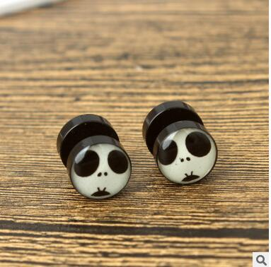 wholesale 2 Pair jewelry Brincos earring Pendientes little panda retro anti allergy earrings and jewelry in So