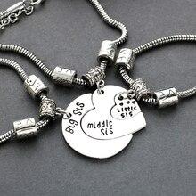 2016 Good Sister Bracelet Big Middle Little Spring Heart Spliced Heart-Shaped