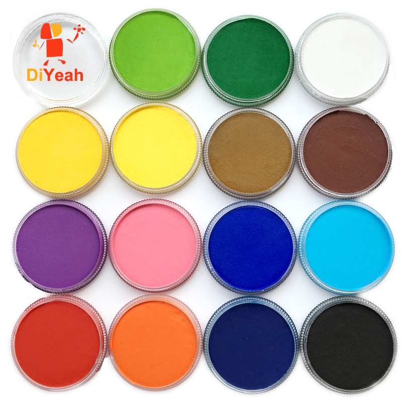 DiYeah Farba do twarzy Kolor maquillage 30g Halloween Makijaż schmink Pigment Body Art Model Marker Pojedynczy maquiagem Body Painting Red