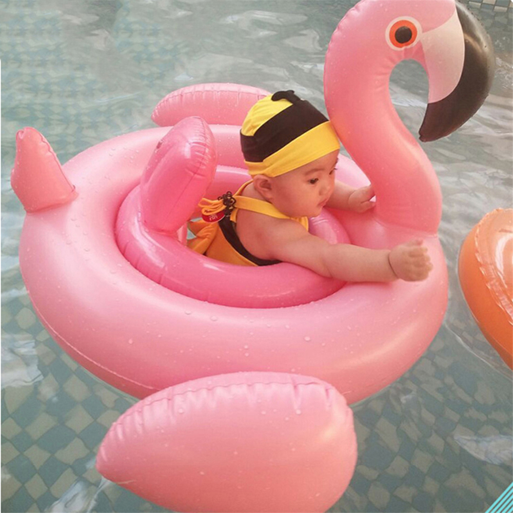 Baby Swimming Float baby Seat Float Inflatable Toys Flamingo Swan Pool Float Baby Summer Water Fun Pool Toy Kids Swimming ring ^