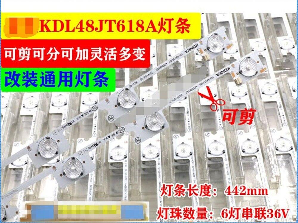 30piece/lot   NEW LED Backlight Bar Strip For KONKA KDL48JT618A KDL48JT618U KDL48SS618U 35018539 35018540  6LEDS(6V) 442mm