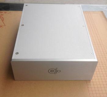 QM Latest Cello full aluminum enclosure amplifier case silver/black amplifier chassis diy enclosure aluminium amp case