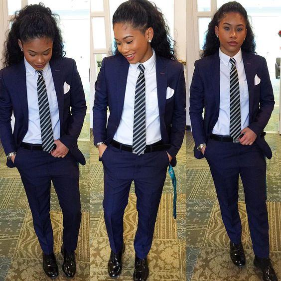 Formal Office Uniform Designs Navy Blue Women Business Suits Slim Female Trouser Suit Ladies Elegant Pant