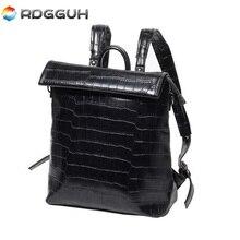 RDGGUH Brand Fashion font b Leather b font font b Backpack b font font b Men
