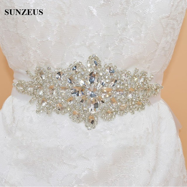 Luxurious Rhinestones Bride Belt cinta con strass para vestidos Colorful Satin Belt for Women's Party Accessories S594