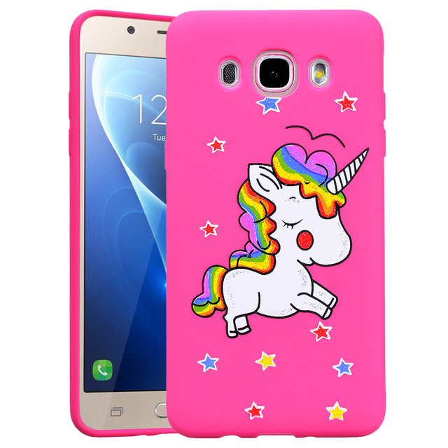 Unicorn Jaune Étui En Silicone Pour Samsung Galaxy J5 (2016) e8WecvlA
