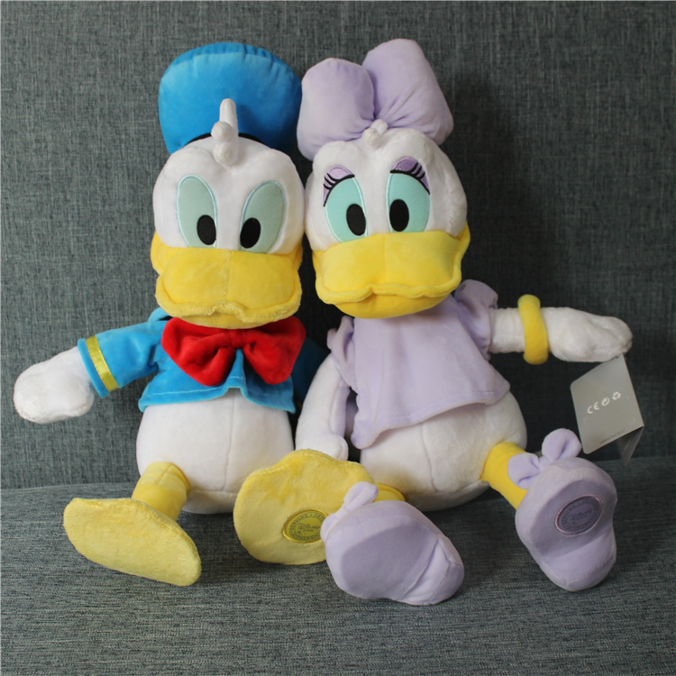 50cm=19.6inch Original Donald Duck And Daisy duck Stuffed animals plush Toys High quality Pelucia Donald Duck Plush Toys donald wigal pollock