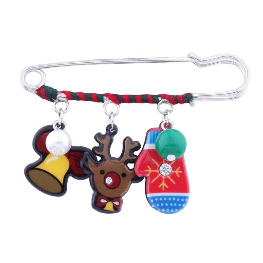 Buon Natale Babbo Natale Albero di Avvio Spilla Spille Regali Del Partito Spiedi Distintivo Set Regali Delicato 23